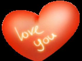 PNG图标:红色心形png图标128x128