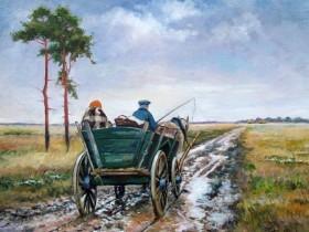 油画欣赏:Piotr Olech乡村油画作品