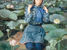 旗袍系列任务油画欣赏:蒋昌一作品