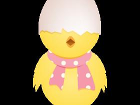 PNG图标:可爱卡通小鸡PNG图标素材