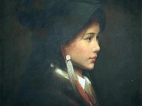 民族特色风情人物油画欣赏-张利油画作品