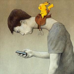国外讽刺手机登现代生活Pawel Kuczynski插画作品欣赏